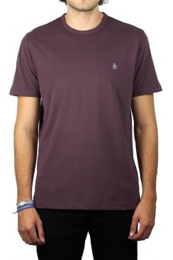 Peached Jersey Embroidery T-Shirt (Plum Wine Heather)