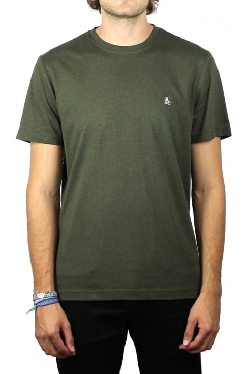 Original Penguin Pin Point Embroidery T-Shirt (Forest Night Heather)