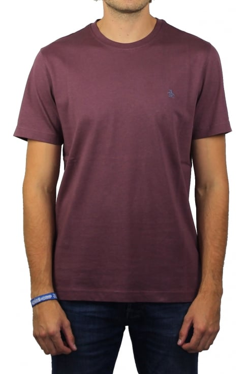 Original Penguin Pin Point Embroidery T-Shirt (Plum Wine)