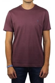 Pin Point Embroidery T-Shirt (Plum Wine)