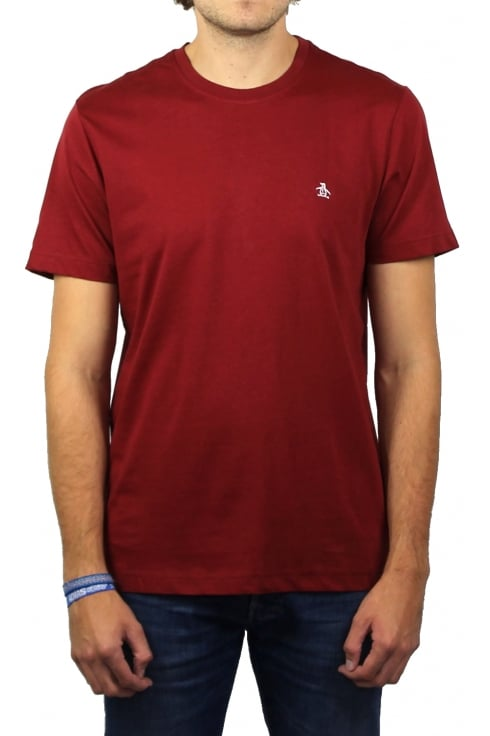 Original Penguin Pin Point Embroidery T-Shirt (Pomegranate)