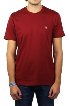 Pin Point Embroidery T-Shirt (Pomegranate)