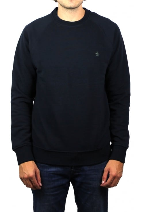 Original Penguin Raised Rib Sweatshirt (Dark Sapphire)