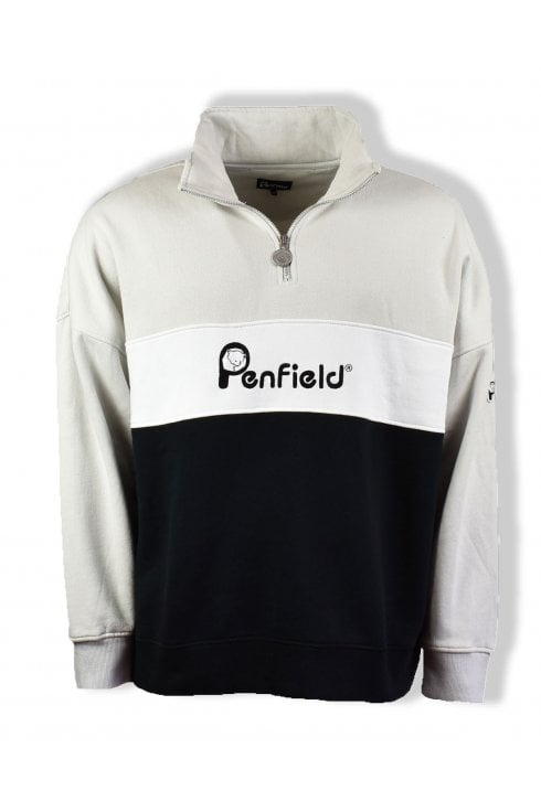 Penfield Cameron Half Zip Sweatshirt (Silver Cloud)
