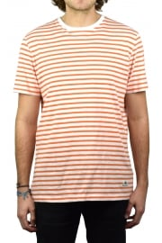 Clover Striped Short-Sleeved T-Shirt (Orange)