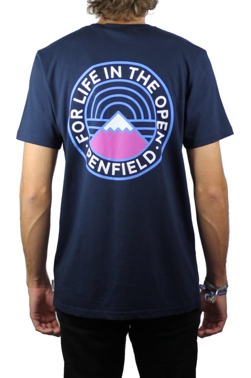 Penfield Feldman Reverse Logo Short-Sleeved T-Shirt (Navy)