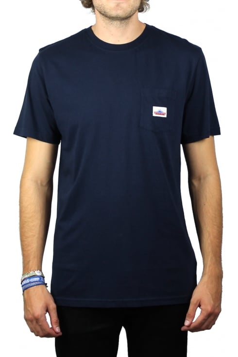Penfield Label Pocket Short-Sleeved T-Shirt (Navy)