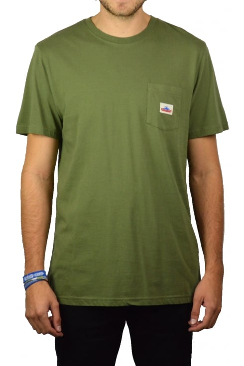 Penfield Label Pocket Short-Sleeved T-Shirt (Olive)