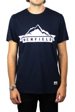 Mountain Short-Sleeved T-Shirt (Navy)