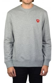 Furry Heart Sweatshirt (Grey Heather)
