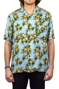 Ananás Short-Sleeved Shirt (Pineapple Print)