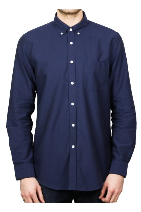 Portuguese Flannel Bela Vista Long-Sleeved Shirt (Navy)