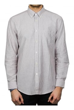 Bela Vista Stripe Long-Sleeved Shirt (Bordeaux)