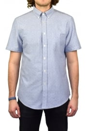 Dobby Short-Sleeved Shirt (Blue)