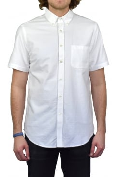 Dobby Short-Sleeved Shirt (White)