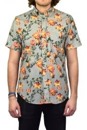 Lobo Flores Cord Short-Sleeved Shirt (Floral Print)