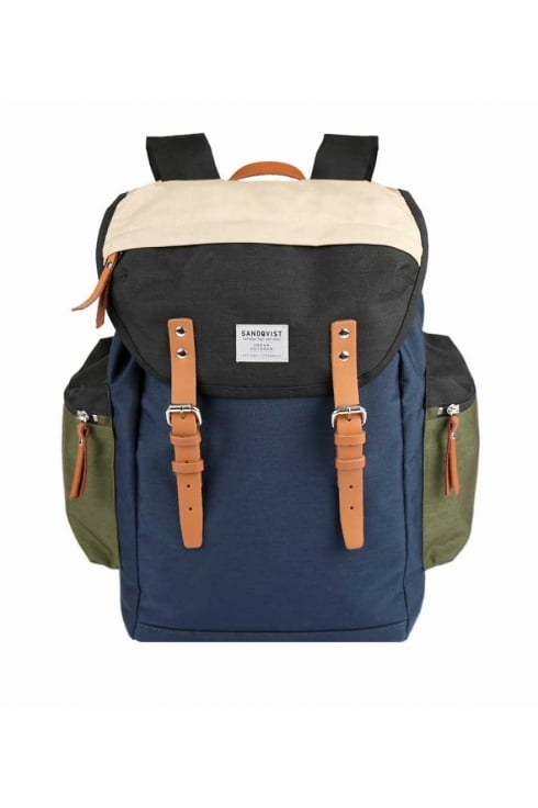 Sandqvist Lars-Göran Cordura Backpack (Multi/Black/Blue/Grey)