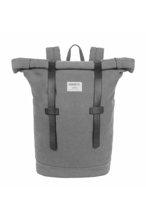 Sandqvist Stig Rolltop Canvas Backpack (Grey)