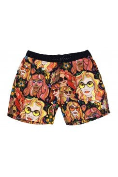 All-Over Patterned Swim Shorts