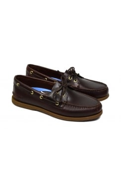 Authentic Original 2-Eye Men's Boat Shoe (Amaretto)