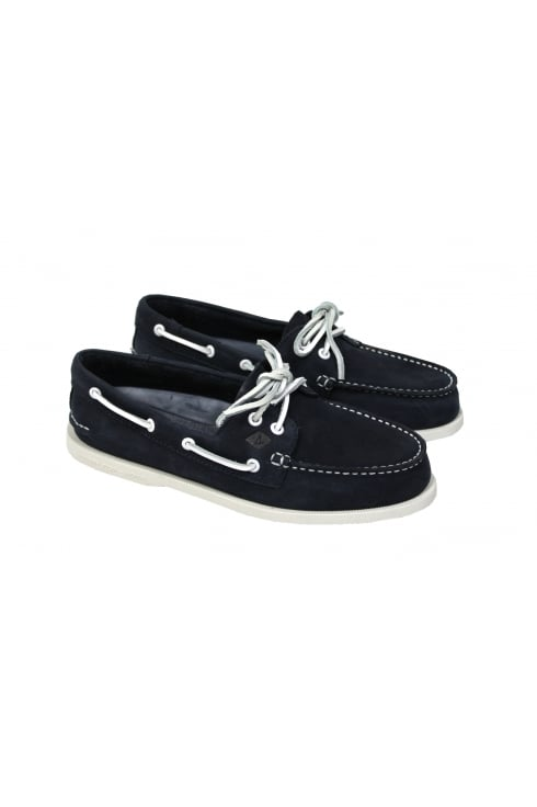 Sperry Top-Sider Authentic Original Washable 2-Eye Boat Shoe (Navy)