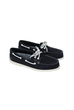 Authentic Original Washable 2-Eye Boat Shoe (Navy)
