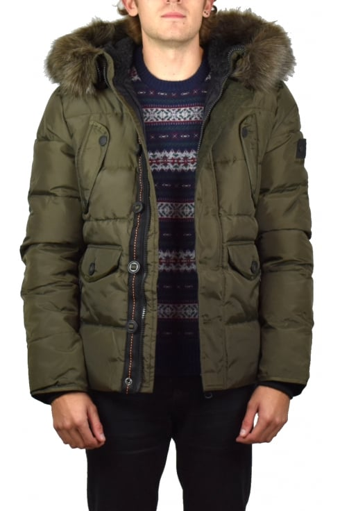 Superdry Chinook Parka Jacket (Dark Khaki)