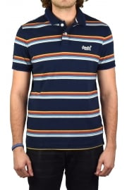Classic Cali Stripe Polo Stripe (Navy Feeder Stripe)
