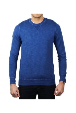 Garment Dyed L.A. Crew Jumper (Bright Marine)