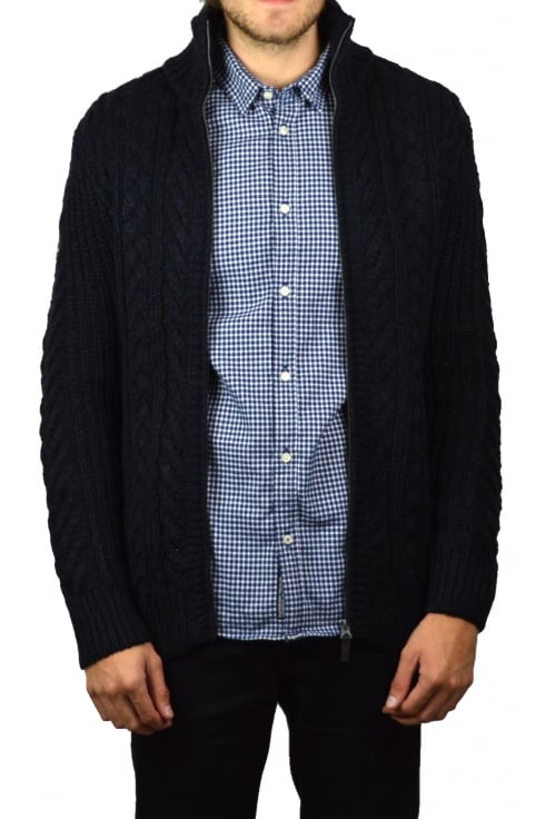 Superdry Mariner Zip-Through Cardigan (Navy Twist)
