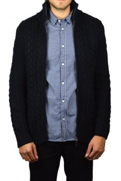 Mariner Zip-Through Cardigan (Navy Twist)