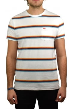 Orange Label Cali Stripe T-Shirt (Optic White)
