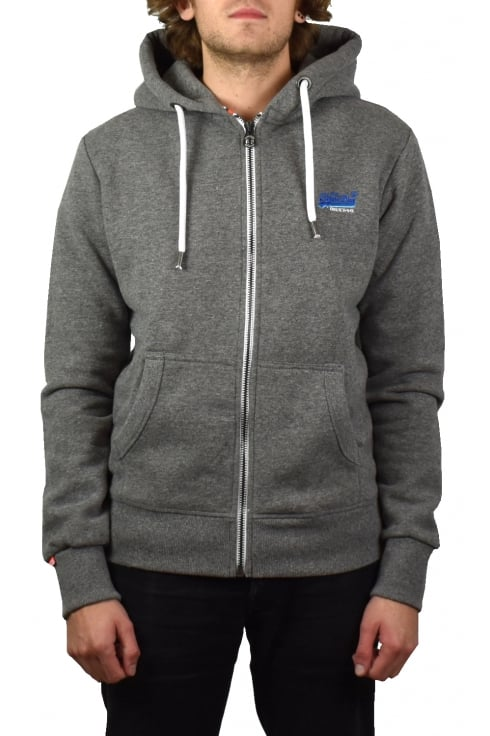 Superdry Orange Label Cali Zip Hoody (Ash Grindle)