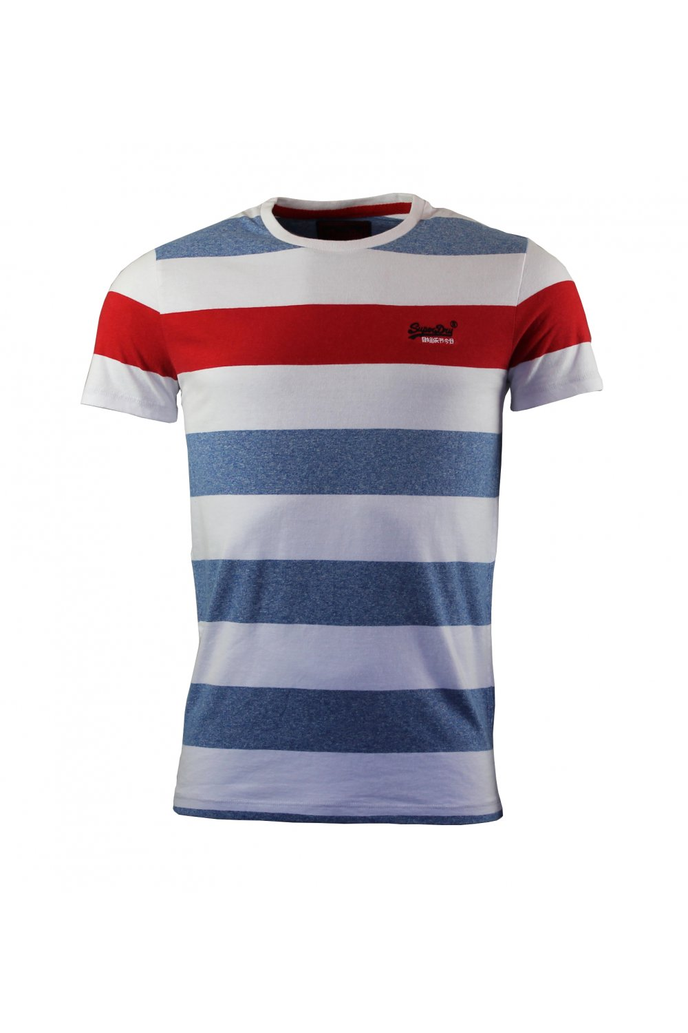 superdry orange label hoop stripe t shirt royal grit superdry from thirtysix uk. Black Bedroom Furniture Sets. Home Design Ideas