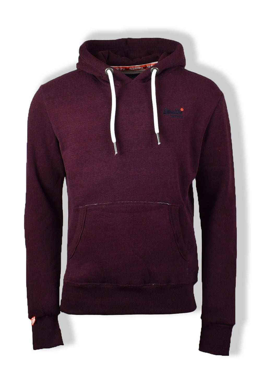 new style 2f2f7 4a076 Superdry Orange Label Pullover Hoody (Boston Burgundy Grit)