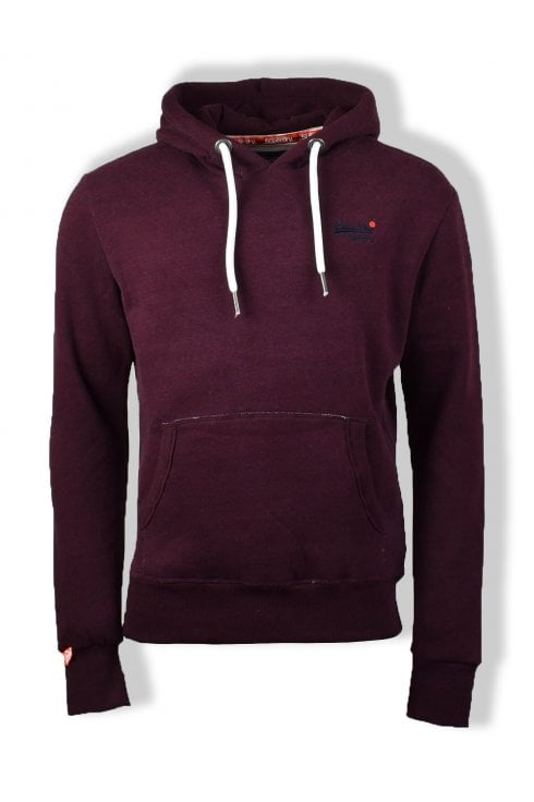 Superdry Orange Label Pullover Hoody (Boston Burgundy Grit)
