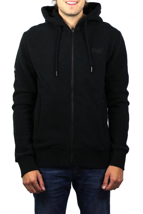 Superdry Orange Label Urban Zip Hoody (Black)