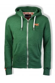 Orange Label Zip Hoody (Bright Mid West Green Grit)