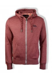 Orange Label Zip Hoody (Darkest Red Feeder Stripe)