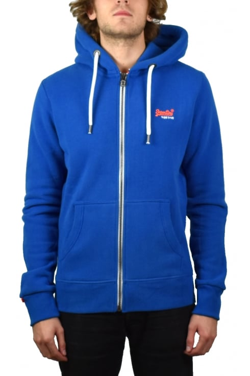 Superdry Orange Label Zip Hoody (State Cobalt)