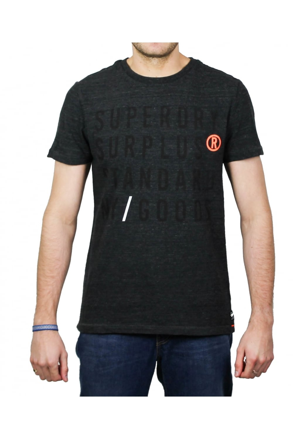 02bf022c Superdry Surplus Goods Graphic Short-Sleeved T-Shirt (Grid Grey ...