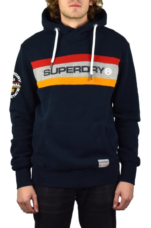 Superdry Trophy Chest Band Hoody (Three Pointer Navy)