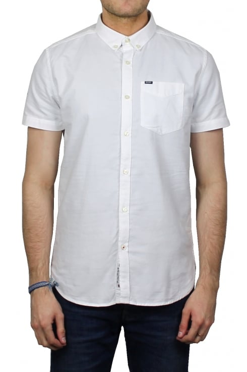 Superdry Ultimate Oxford Short-Sleeved Shirt (Optic White)