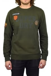 Upstate Wash Crew-Neck Sweatshirt (Olive)