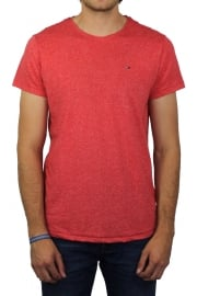 Basic Crew-Neck Short-Sleeved T-Shirt (Salsa)
