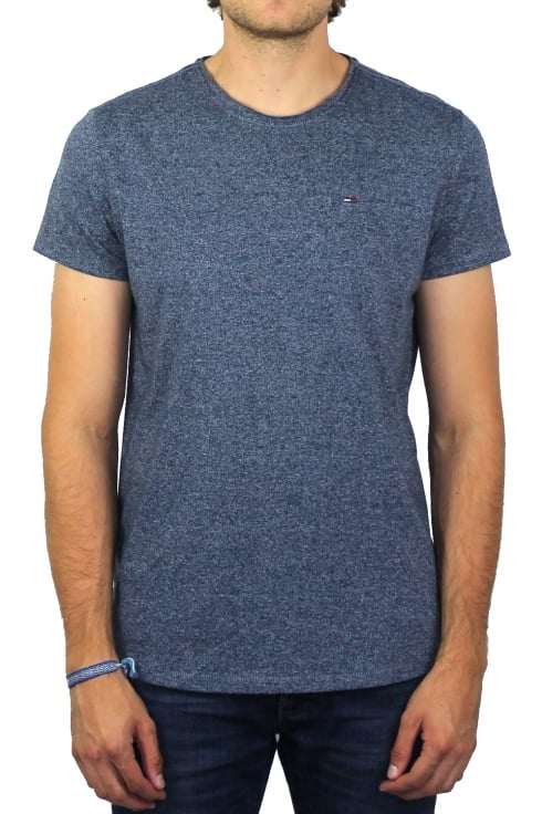 Tommy Jeans Basic Crew-Neck Short-Sleeved T-Shirt (True Navy)