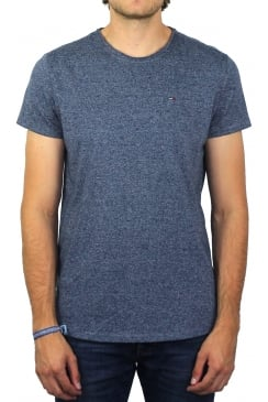 Basic Crew-Neck Short-Sleeved T-Shirt (True Navy)