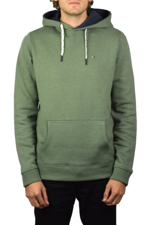 Tommy Hilfiger Denim Basic Hooded Sweatshirt (Four Leaf Clover)