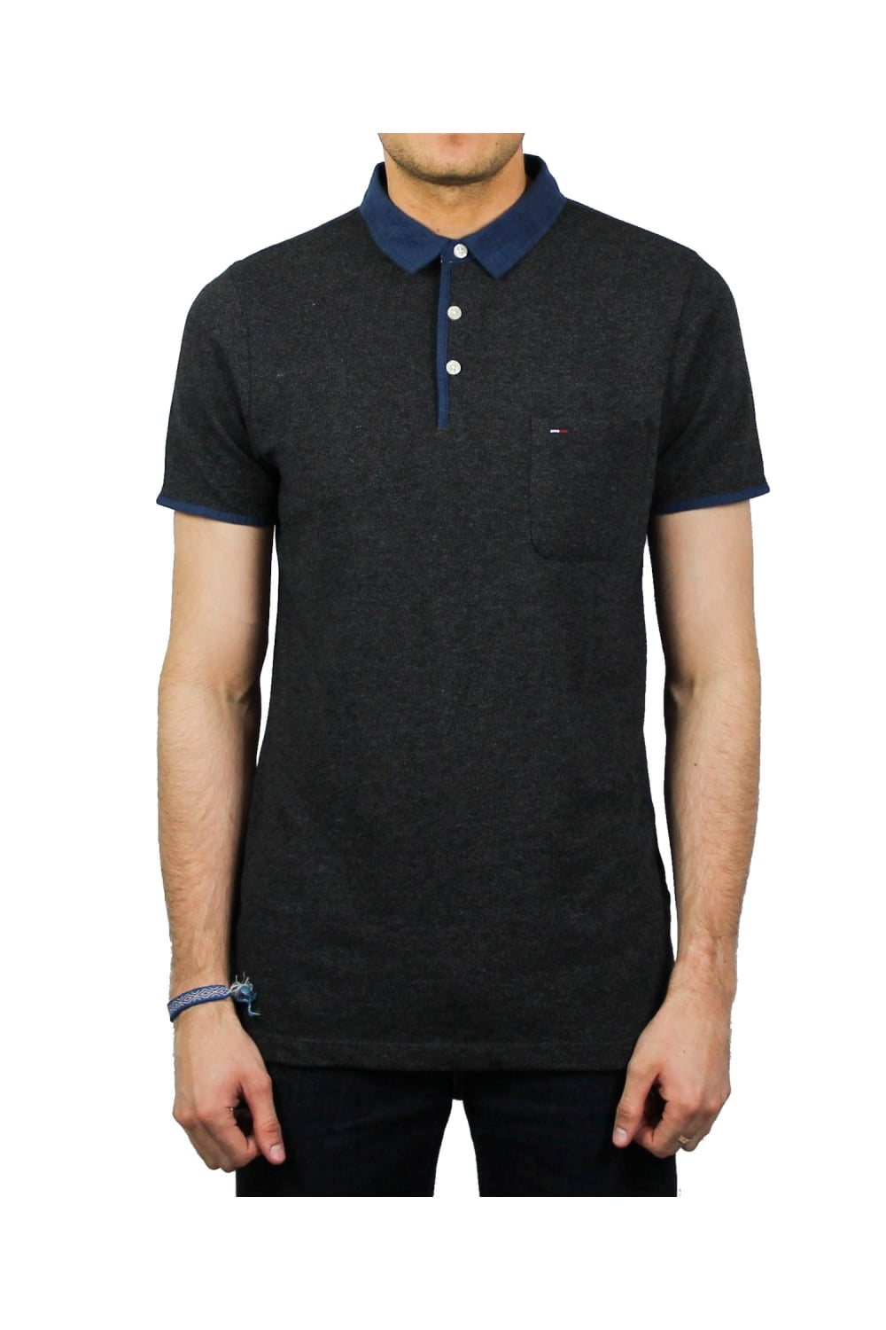 72a2712d5ec5 Tommy Hilfiger Denim Basic Short-Sleeved Polo Shirt (Ebony)