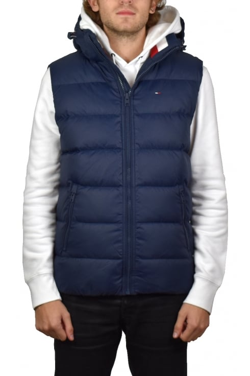 Tommy Jeans Padded Down Vest (Black Iris)